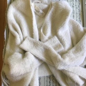 Warm and comfy fuzzy wrap
